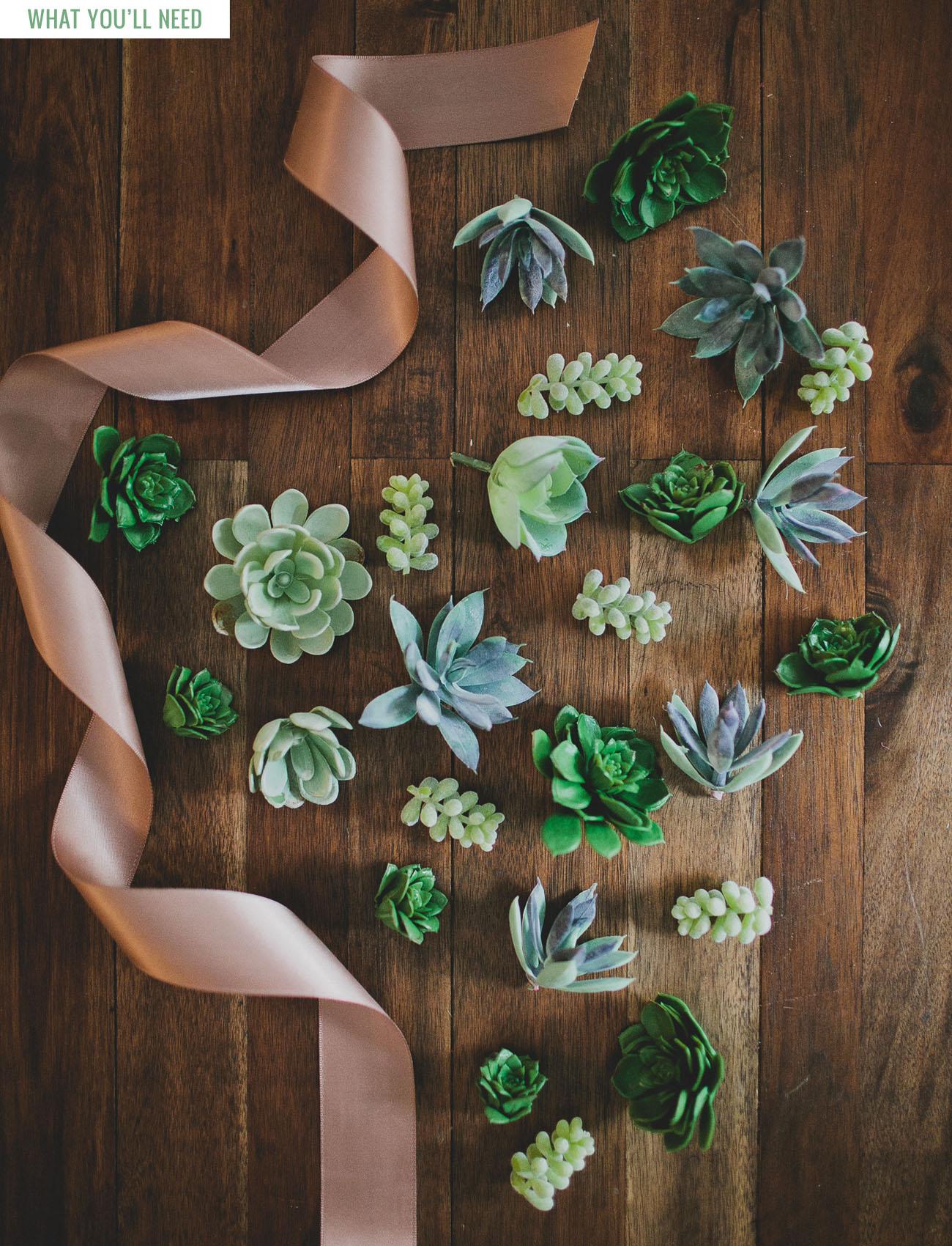 DIY Succulent Cuff