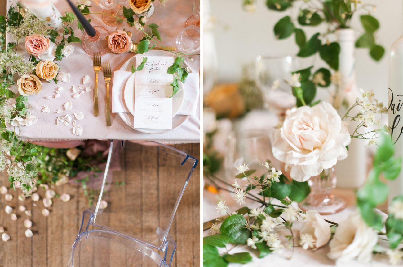 garden inspired tablescape