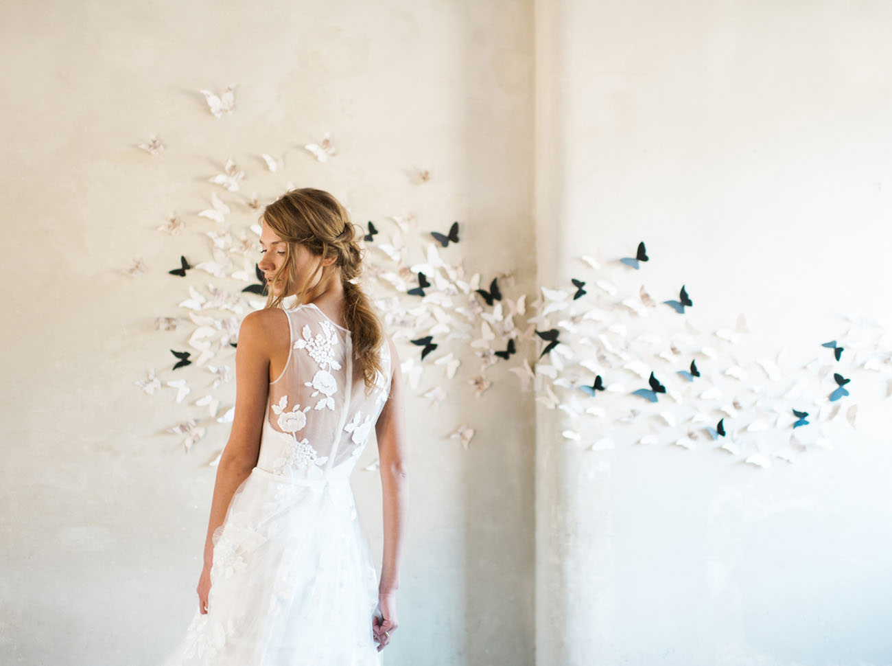 butterfly backdrop