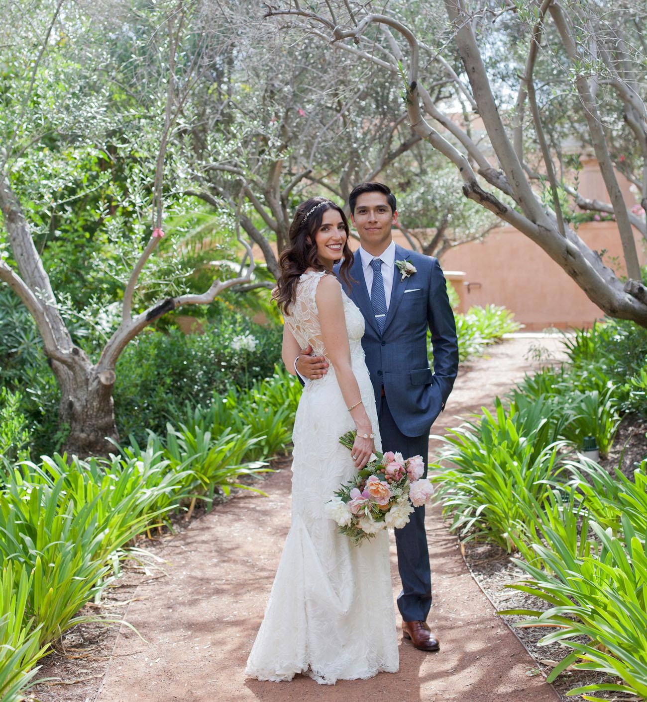 Blue + White Wedding at Rancho Valencia: Elyse + Al - Green Wedding ...