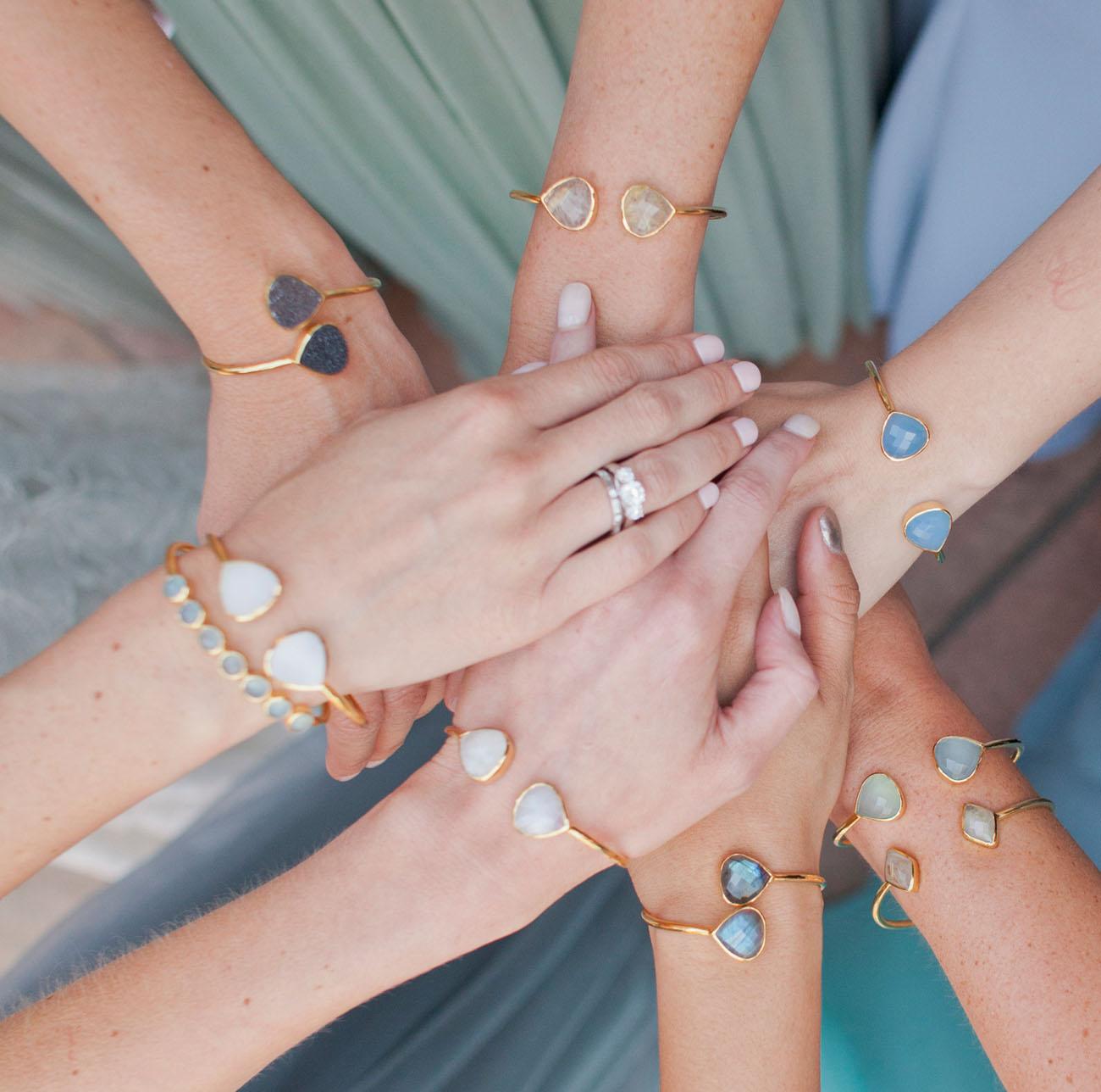 gem stone bangles