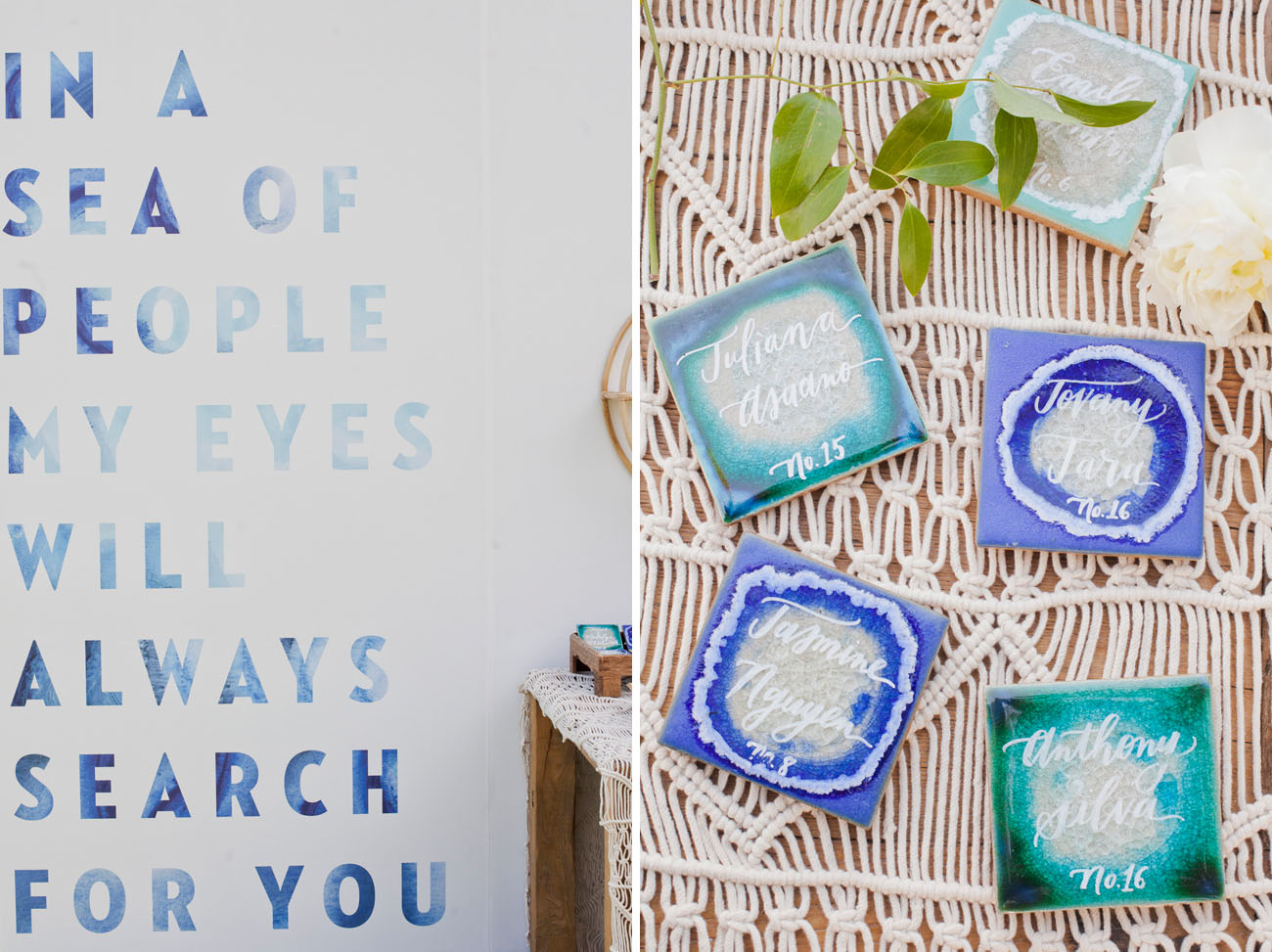 indigo tile favors