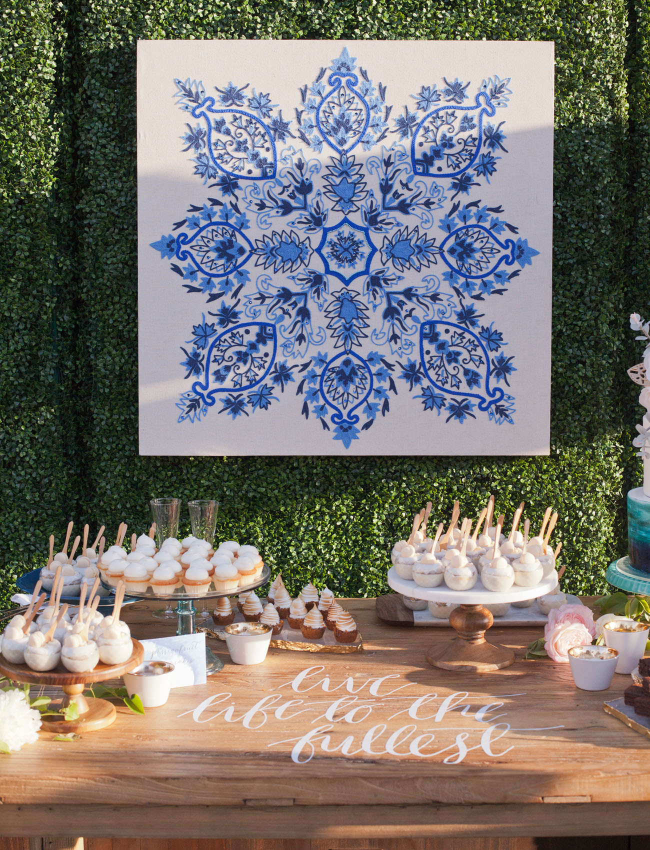 tile dessert backdrop