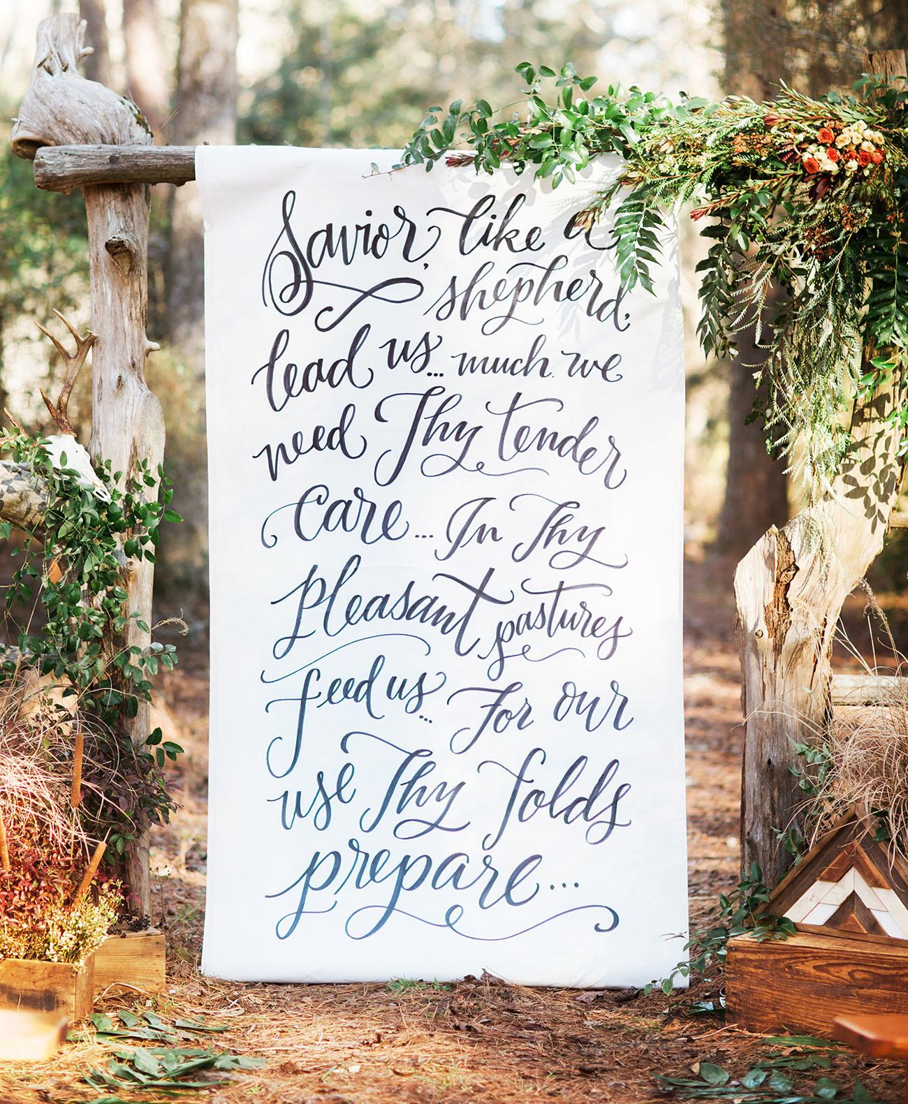 Rustic meets elegant wedding inspiration green