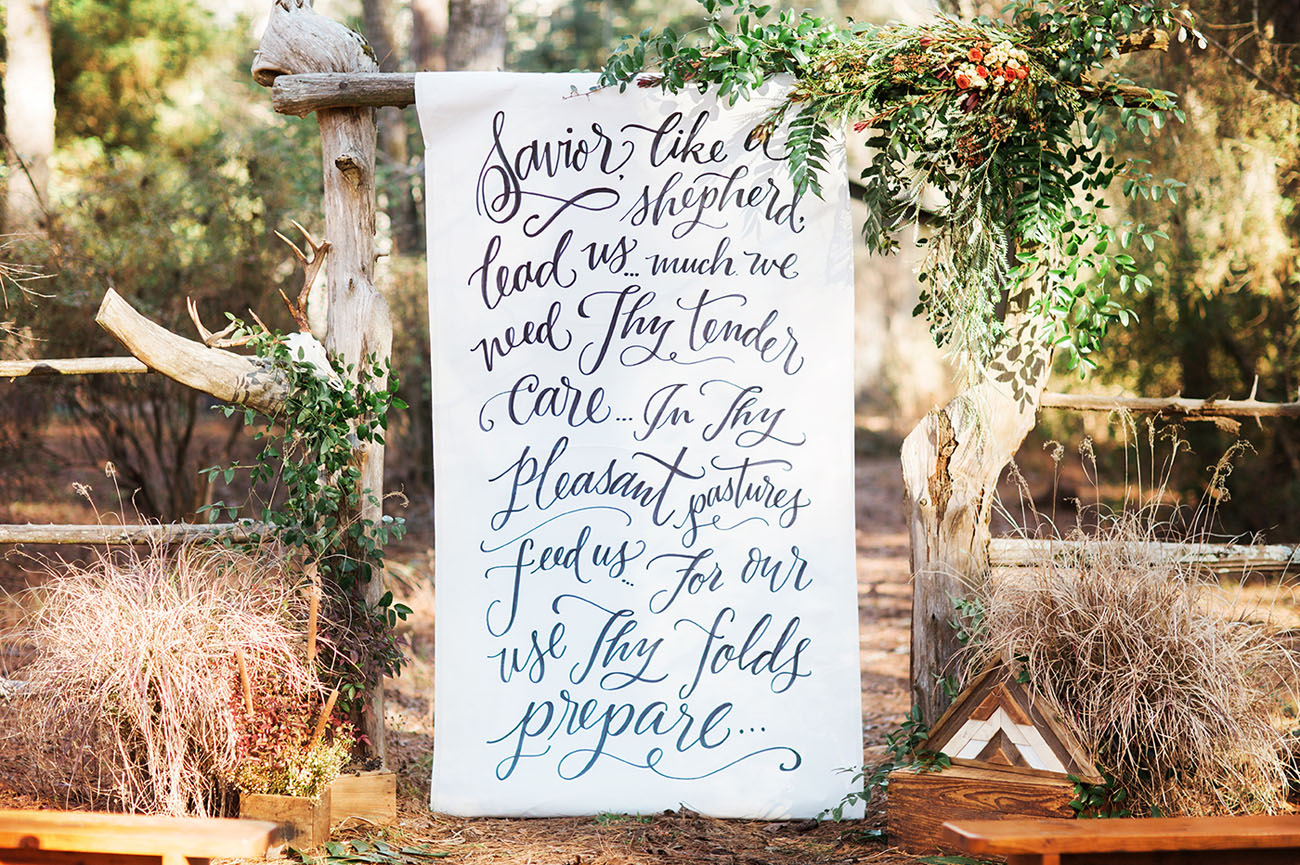 Rustic Meets Elegant Wedding Inspiration