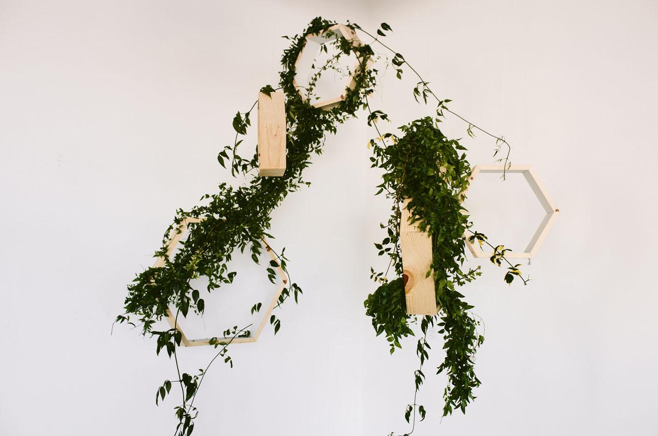 hanging geometric garlands