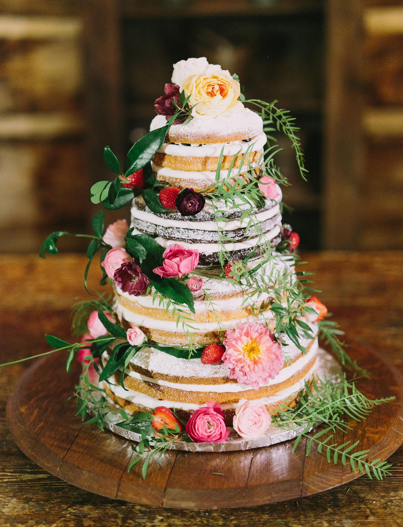 boho naked cake