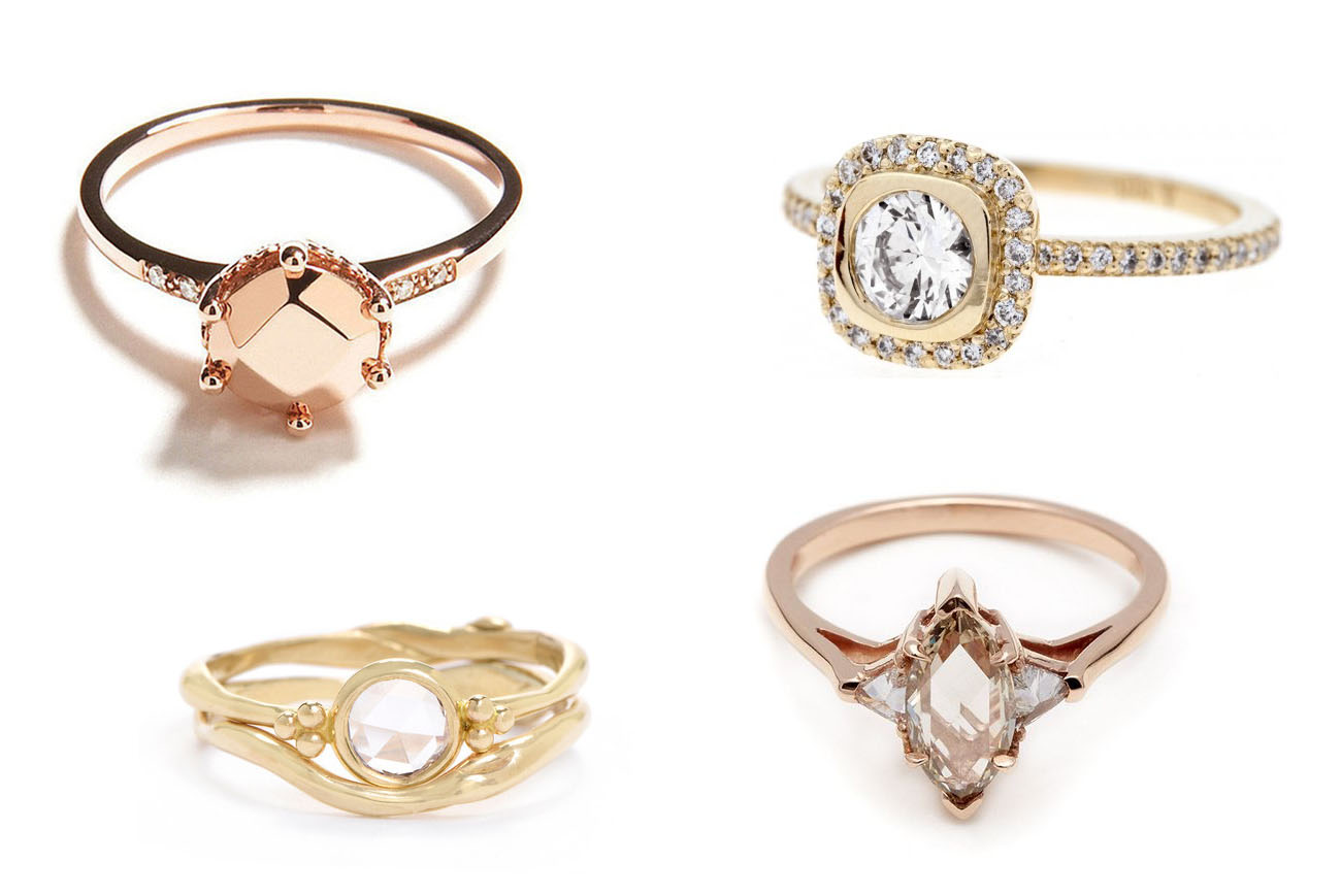 20 unique engagement rings from anna sheffield confetti for Wedding ring unique