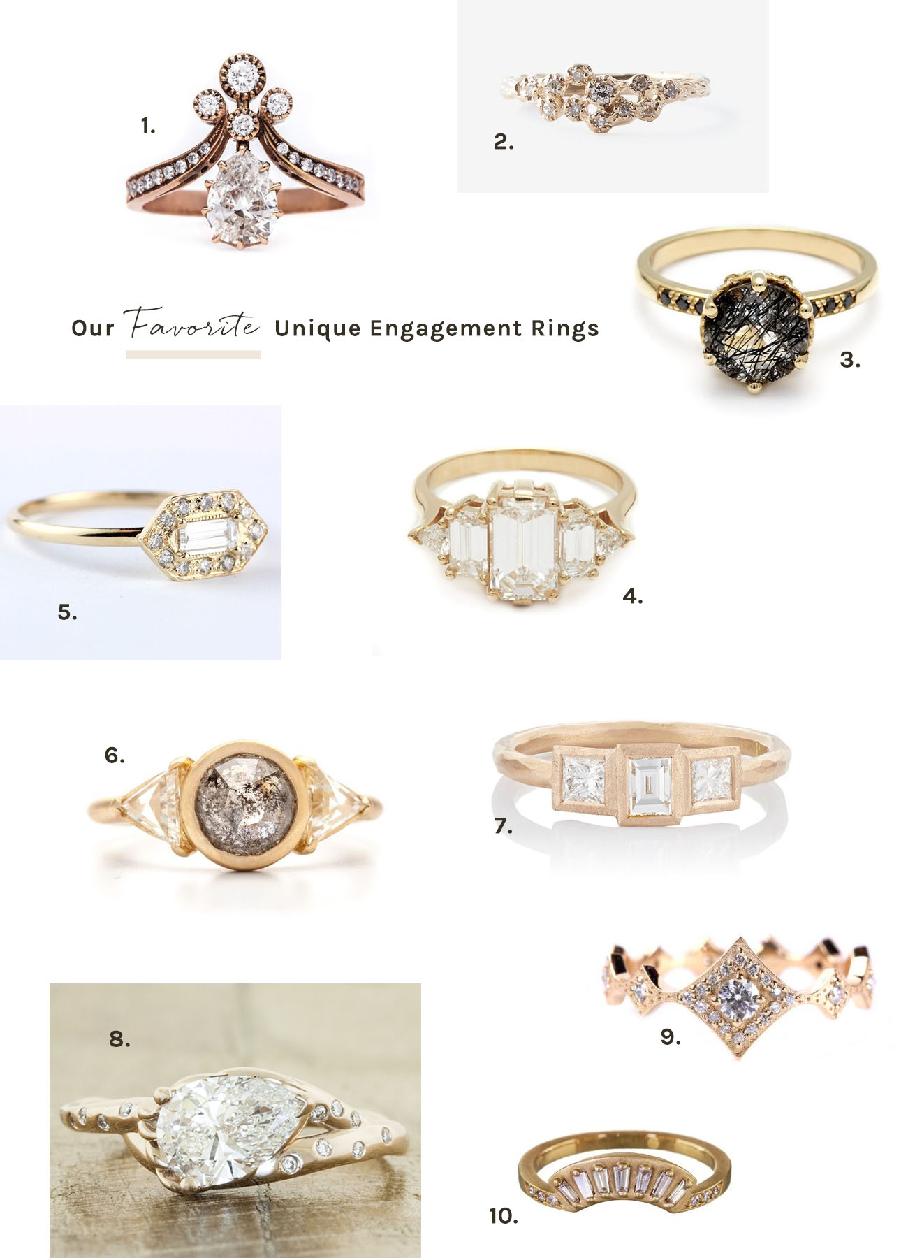Our Favorite Unique Engagement Rings