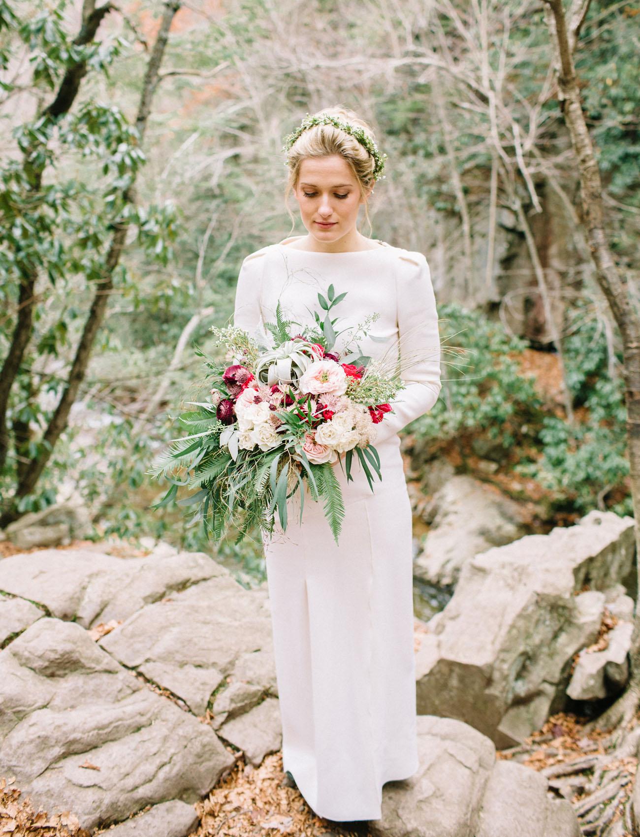 Waterfall Elopement Pennsylvania Lauren Fair Green Wedding Shoes