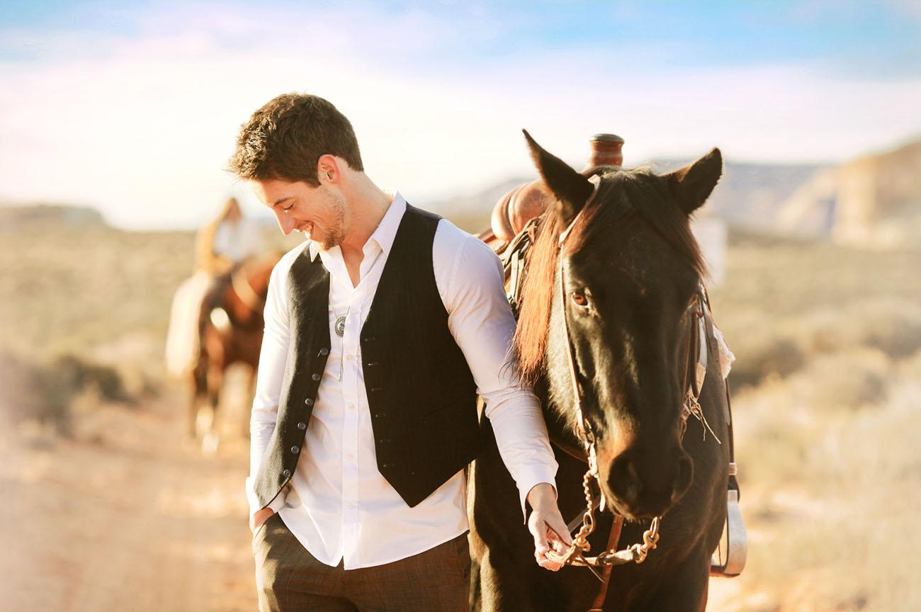 groom in vest