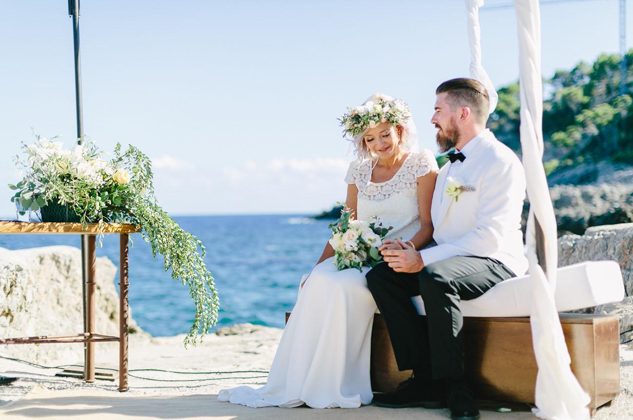 Cliffside Mallorca Spain Wedding Eva Daniel