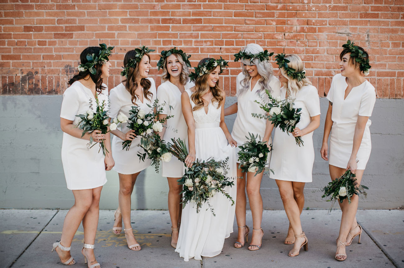 flower crown bridesmaids