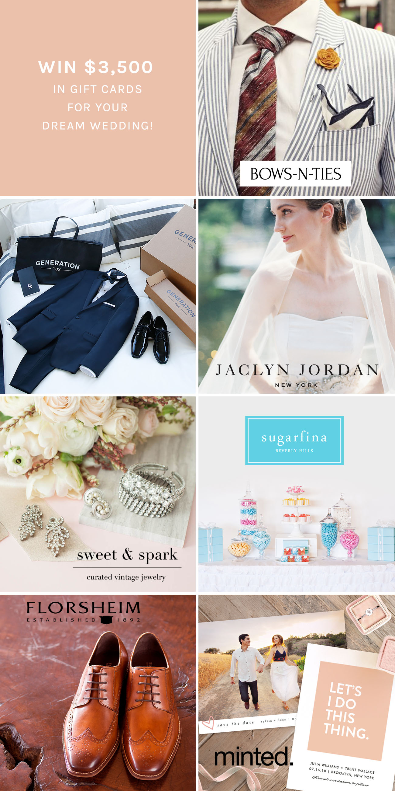 Win $3500 in Gift Cards for Your Dream Wedding