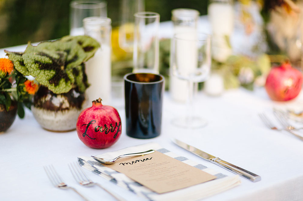 pomegranate name cards