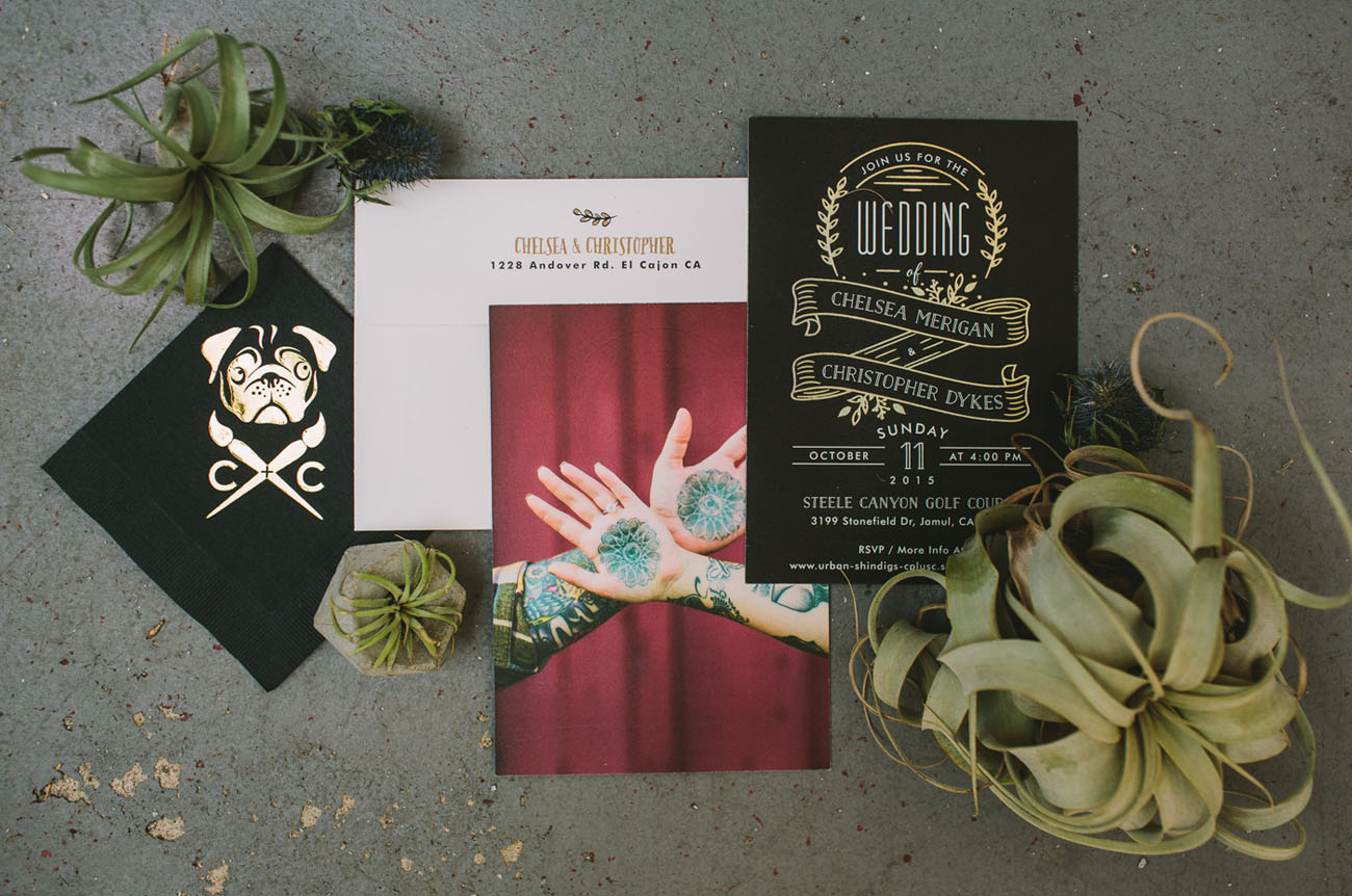 Edgy, Tim Burton-Inspired Wedding: Chelsea + Chris - Green Wedding Shoes