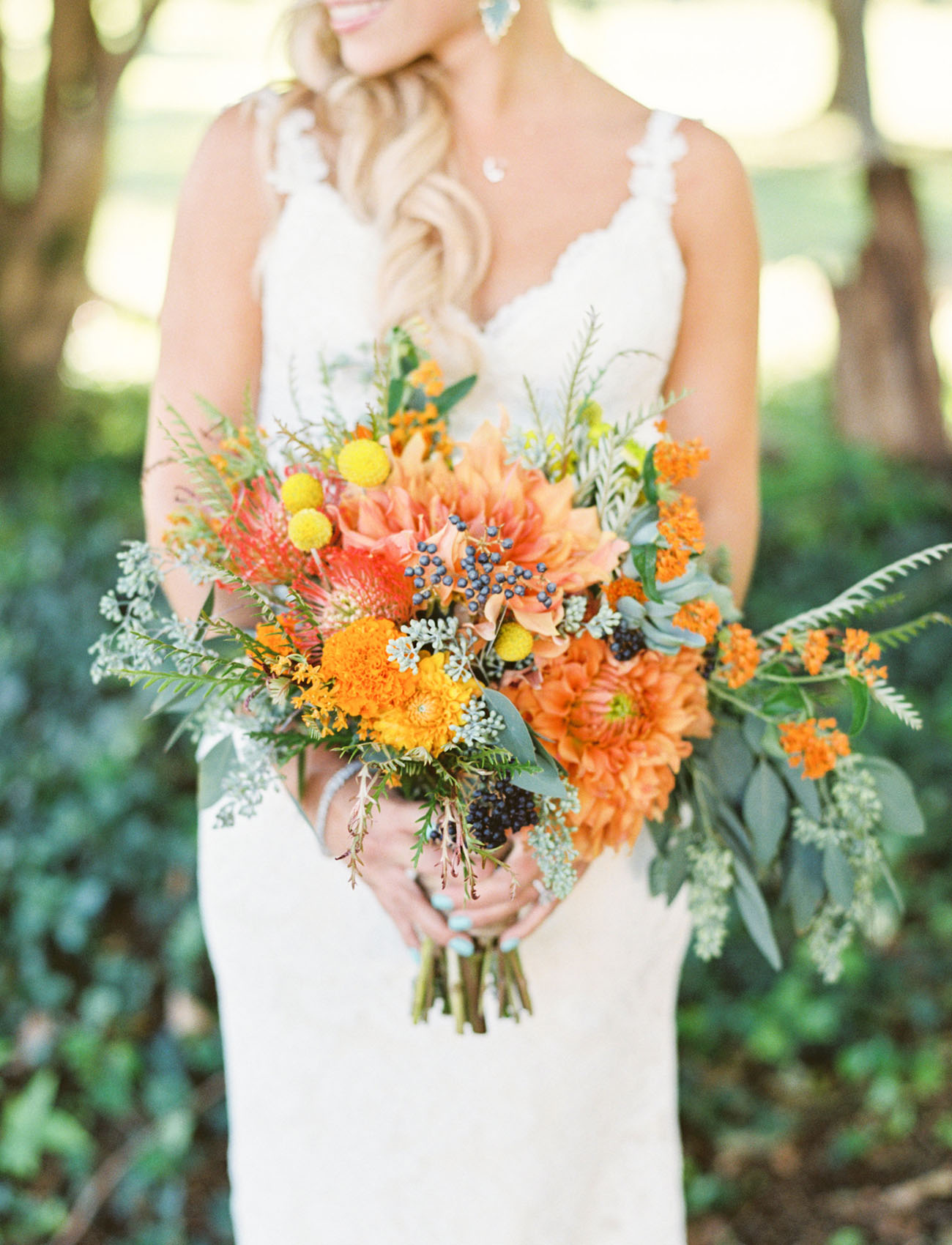 bright orange bouquet