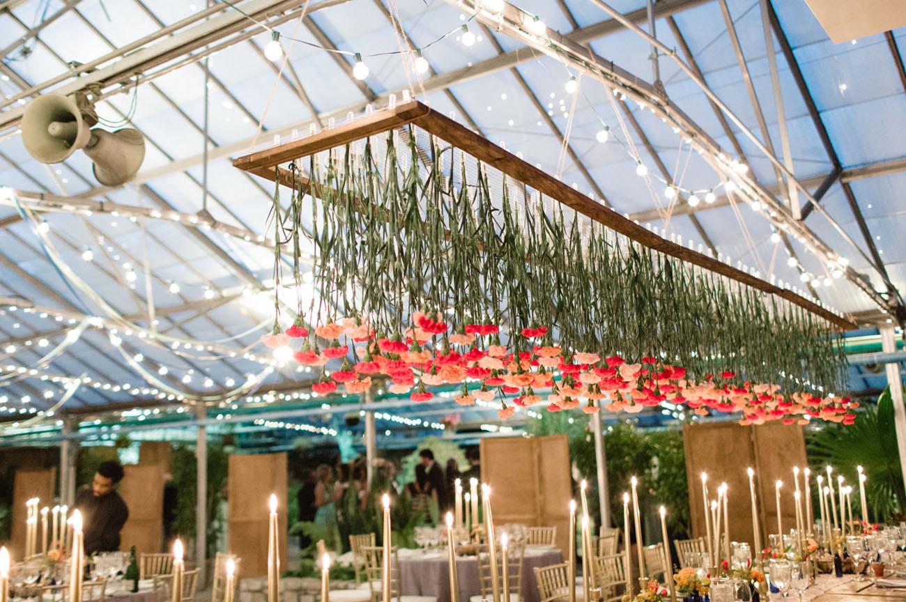 hanging carnations