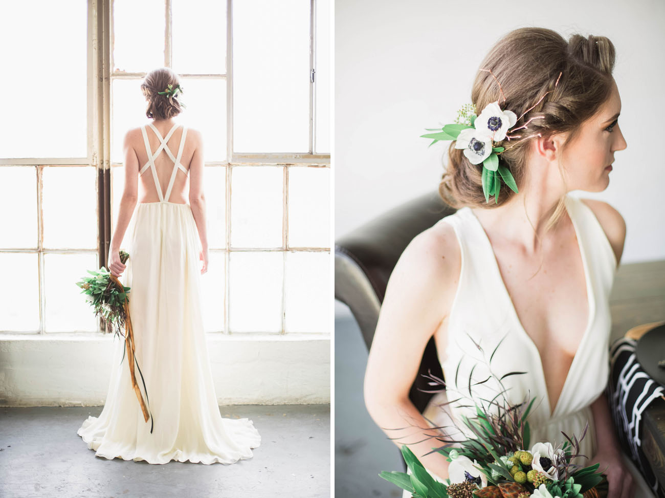 strappy back gown