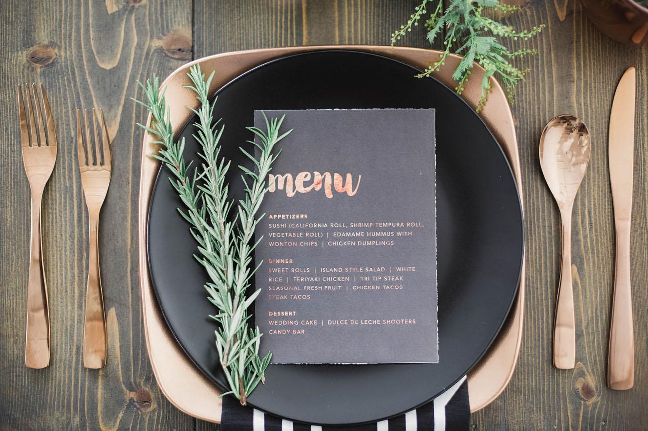copper menu