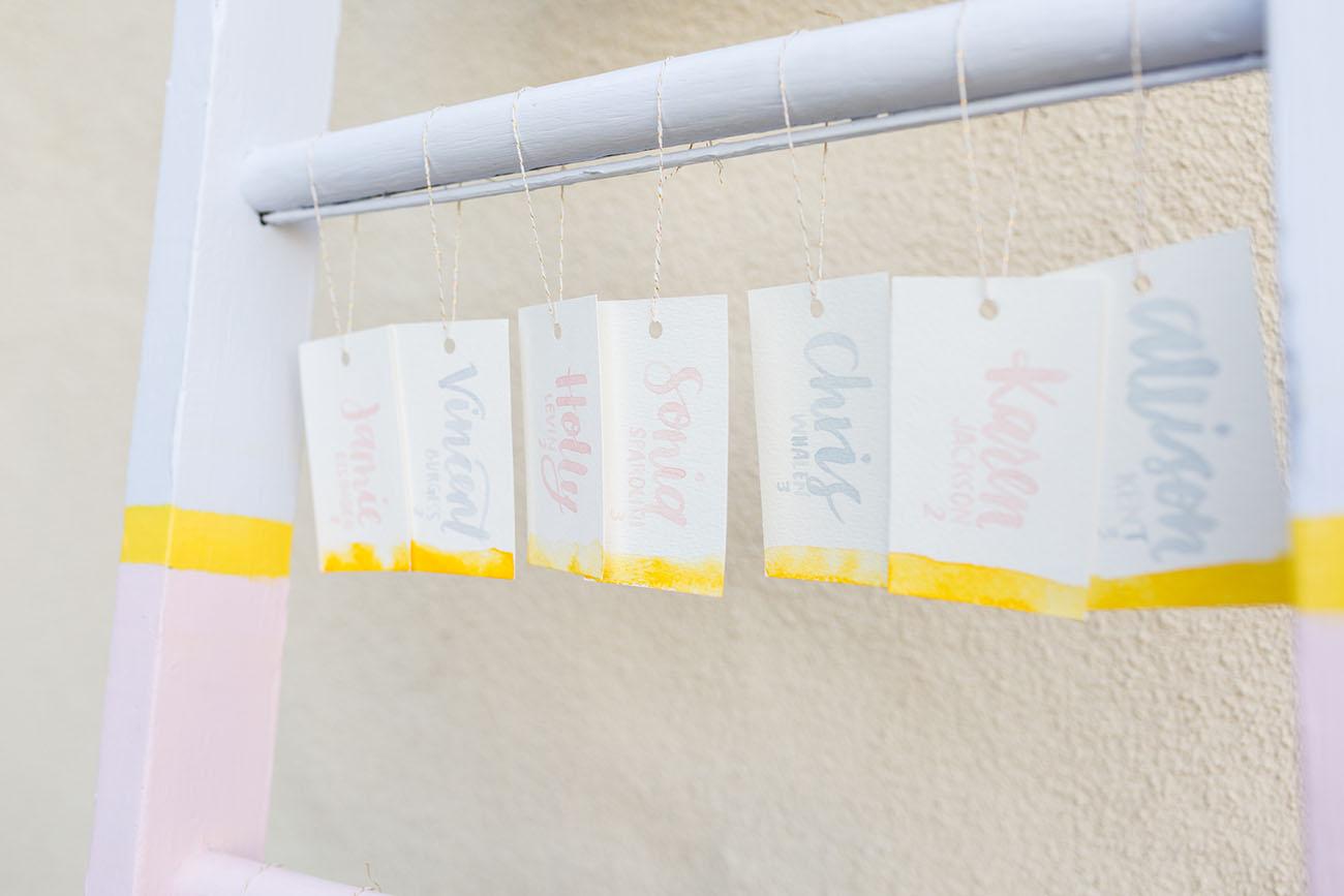 dip dyed cards