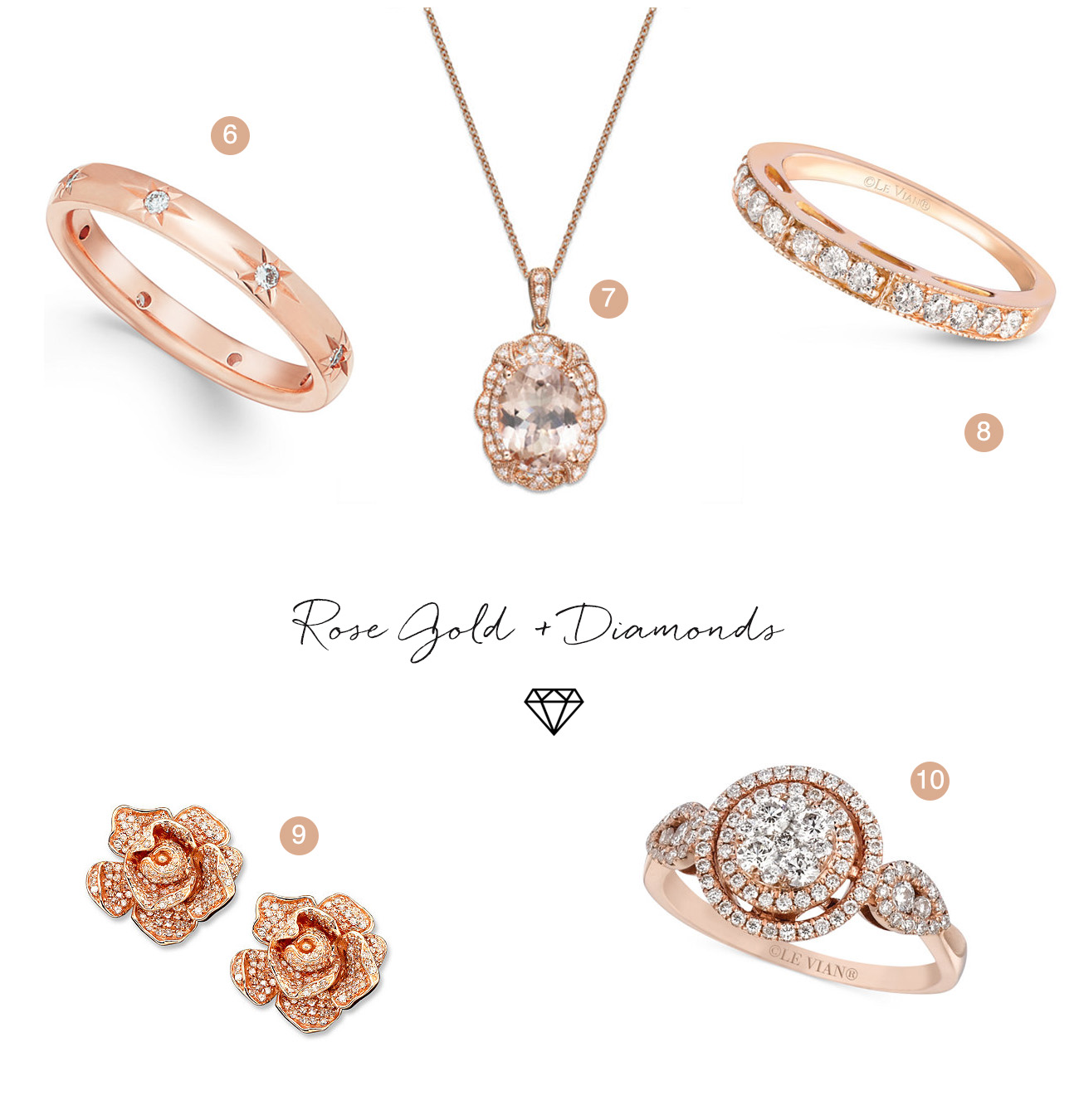 Rose Gold Diamond Jewelry