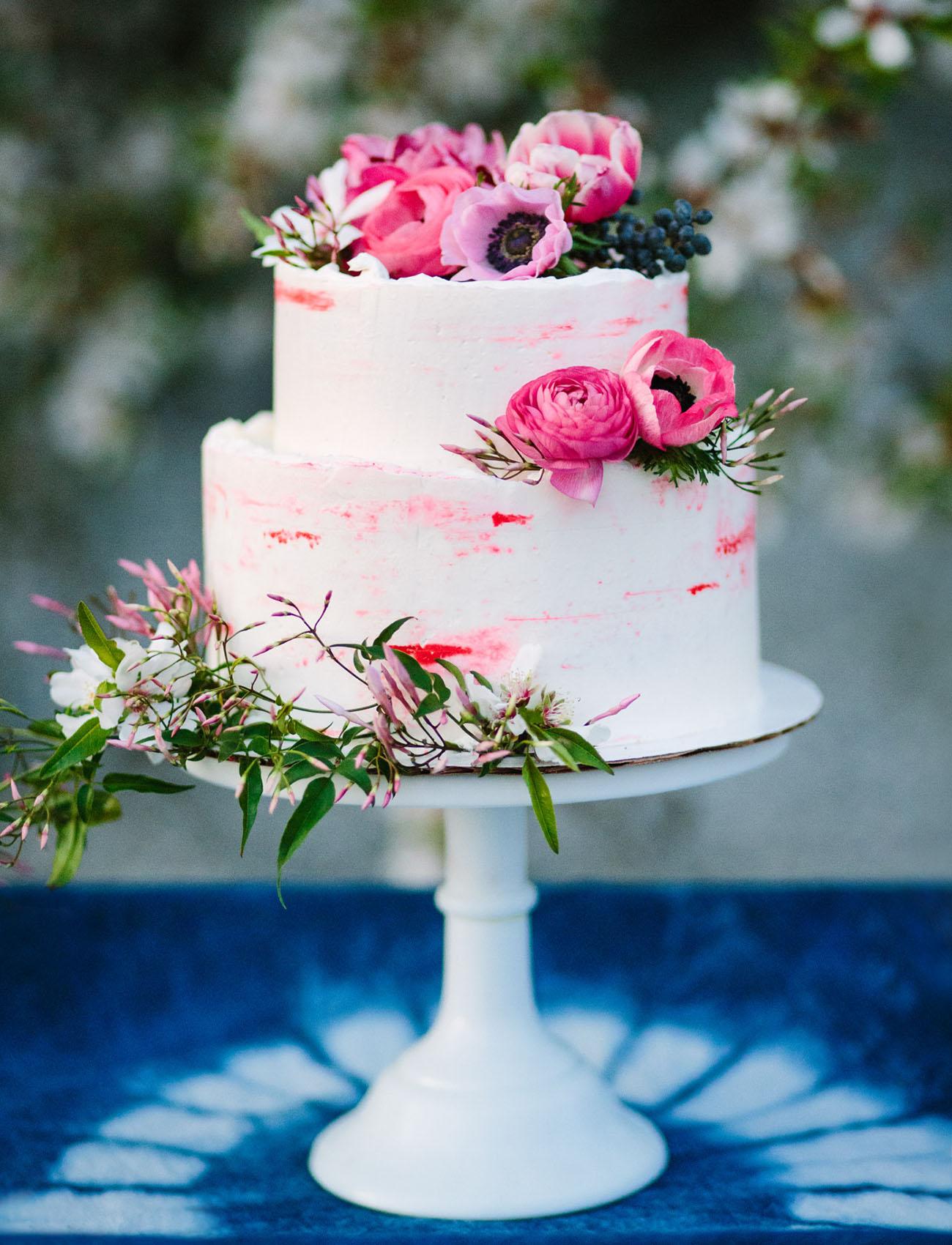 bright pink cake