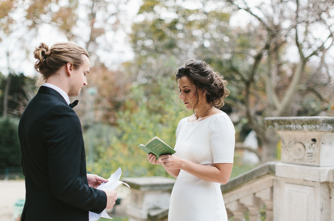 Modern Paris Elopement