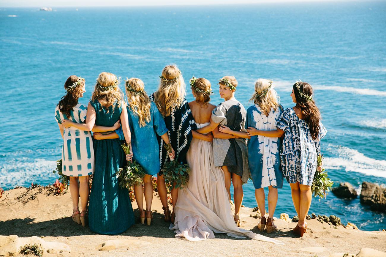 indigo bridesmaids