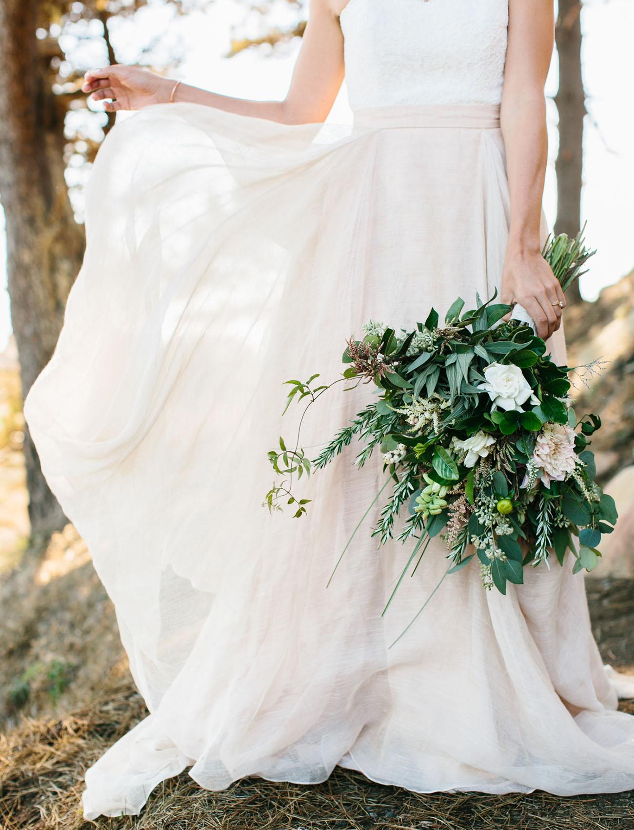 blush wedding skirt