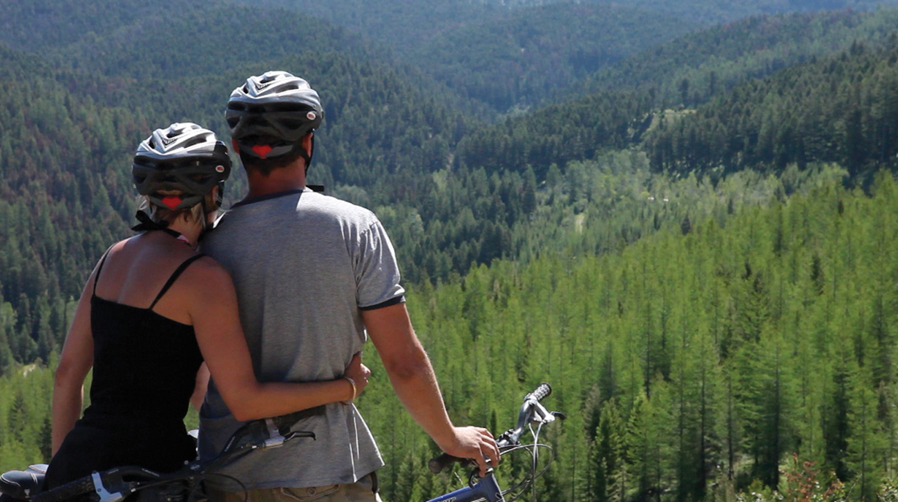 paws up mountain biking