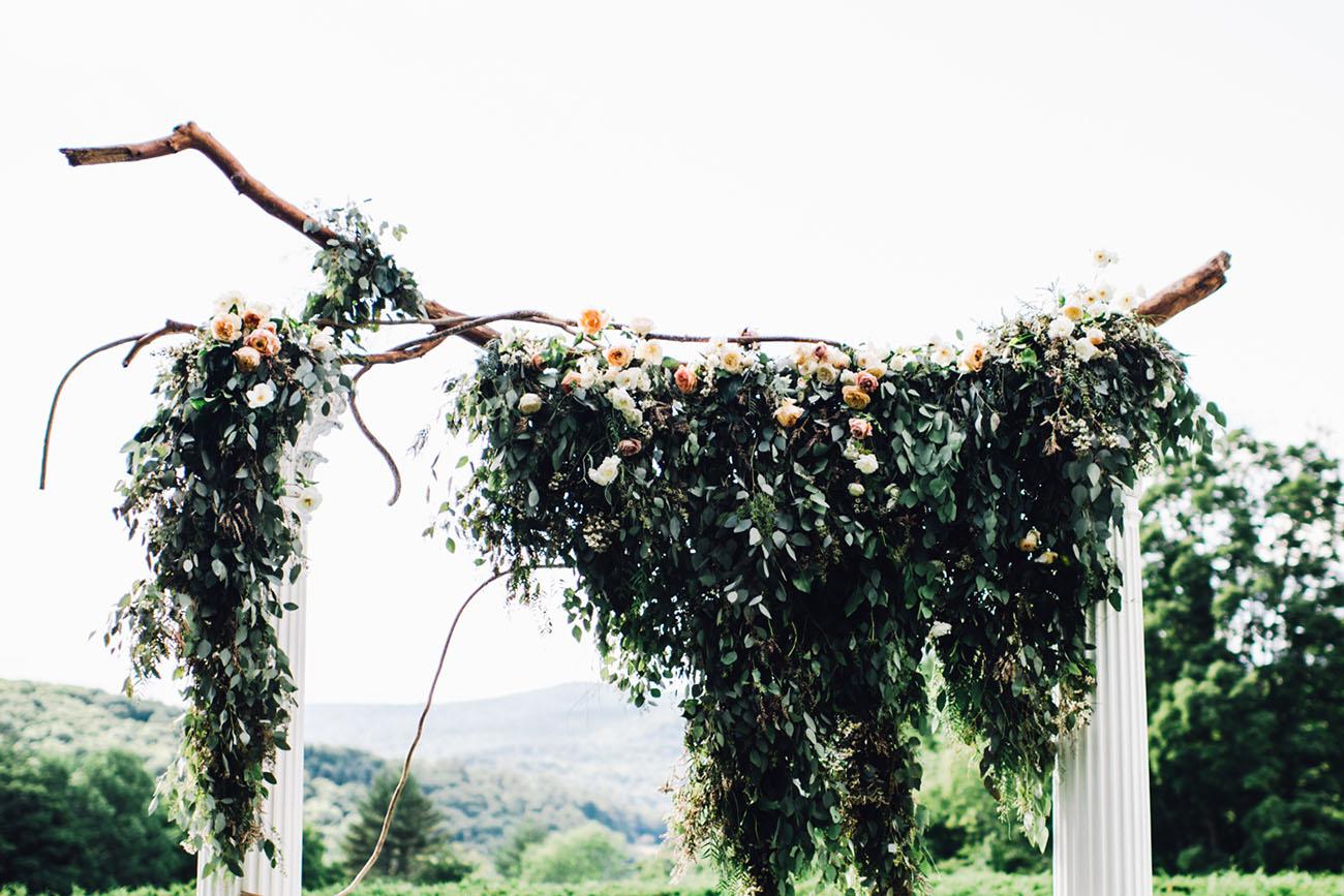 hanging garland backdrop