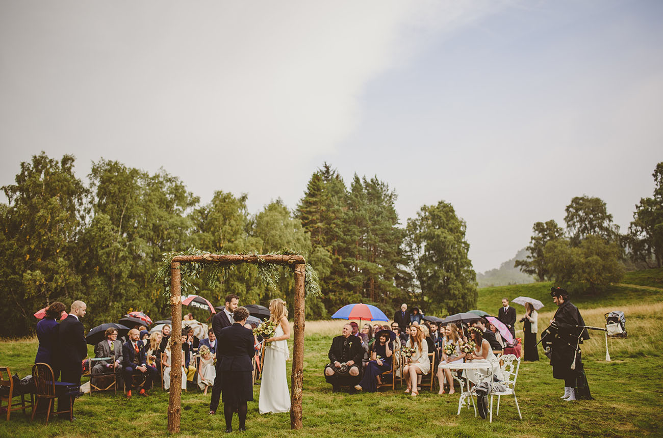 Outdoor Scotland Wedding