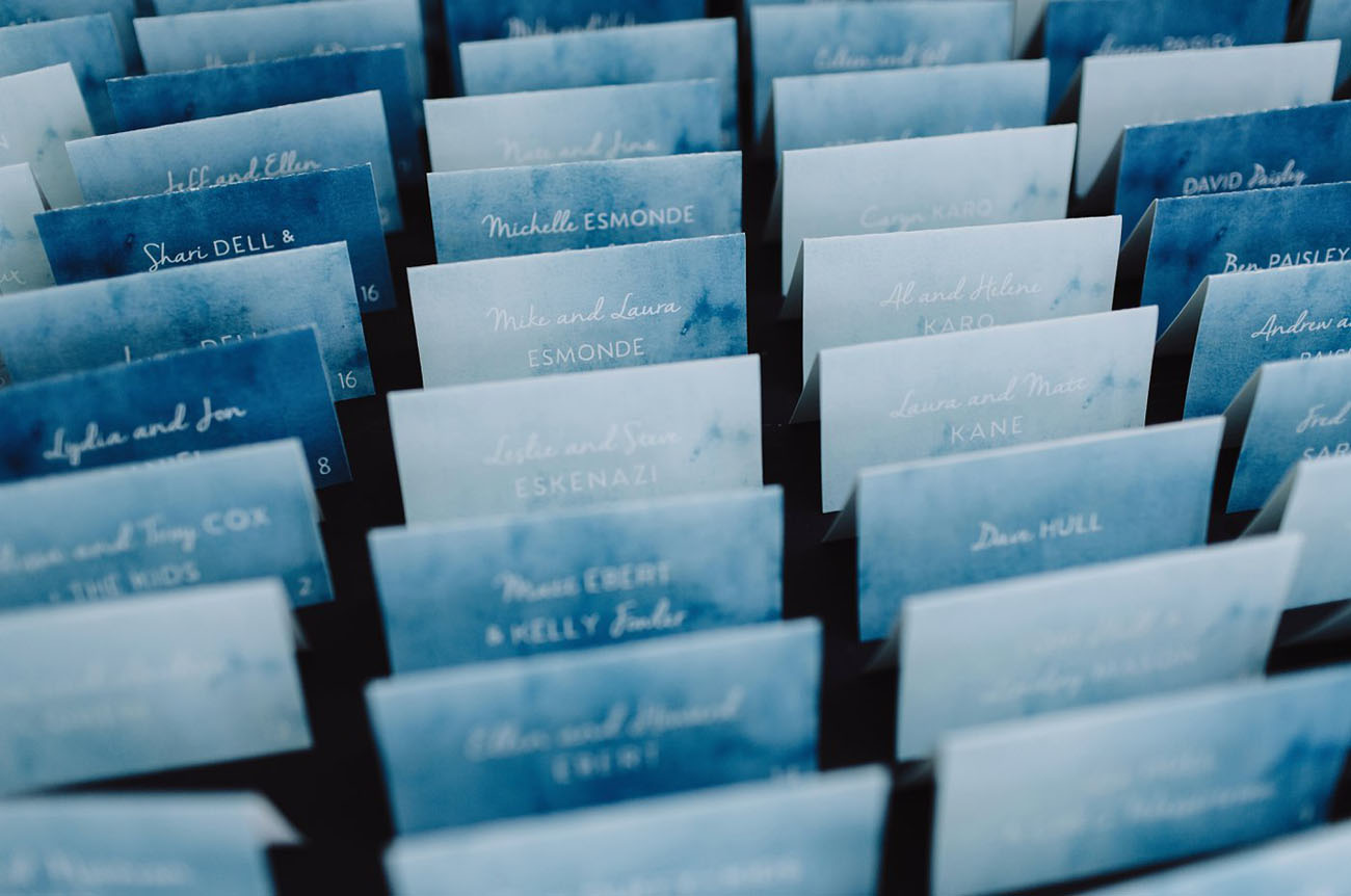 dyed escort cards