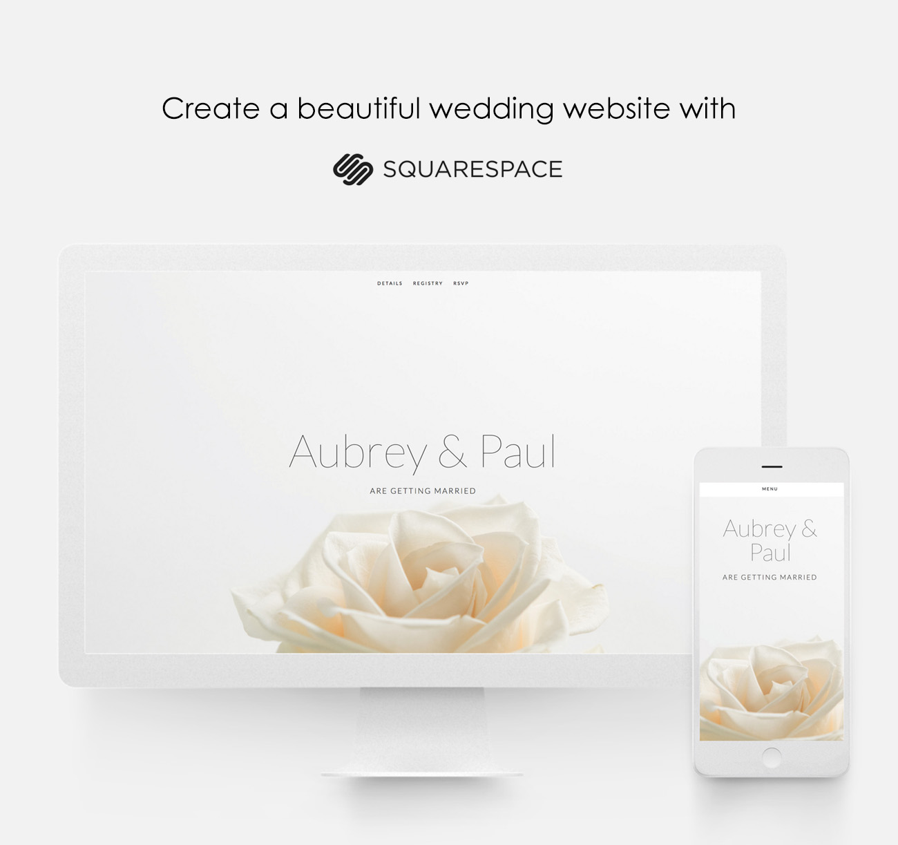 squarespace for your wedding website