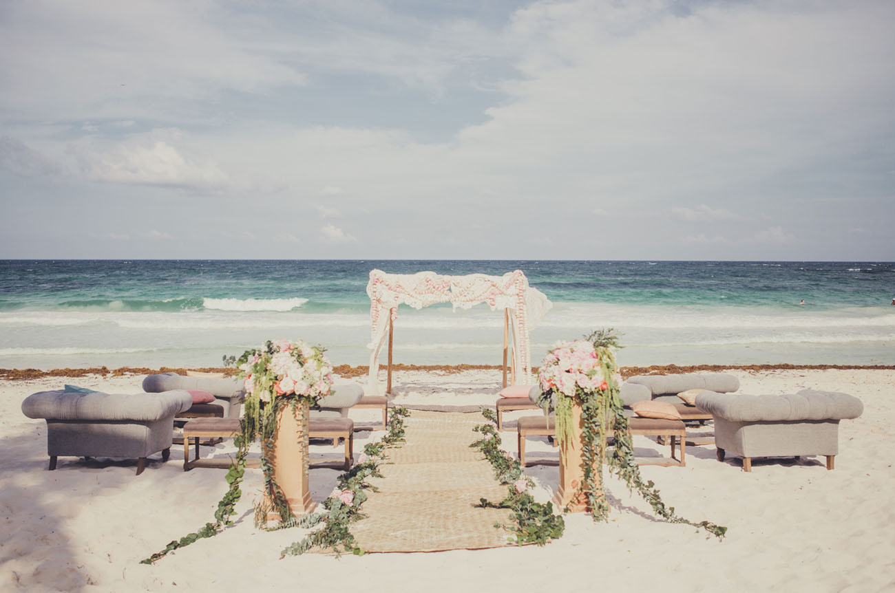 Romantic Destination Wedding In Tulum Mexico Taylea Robin