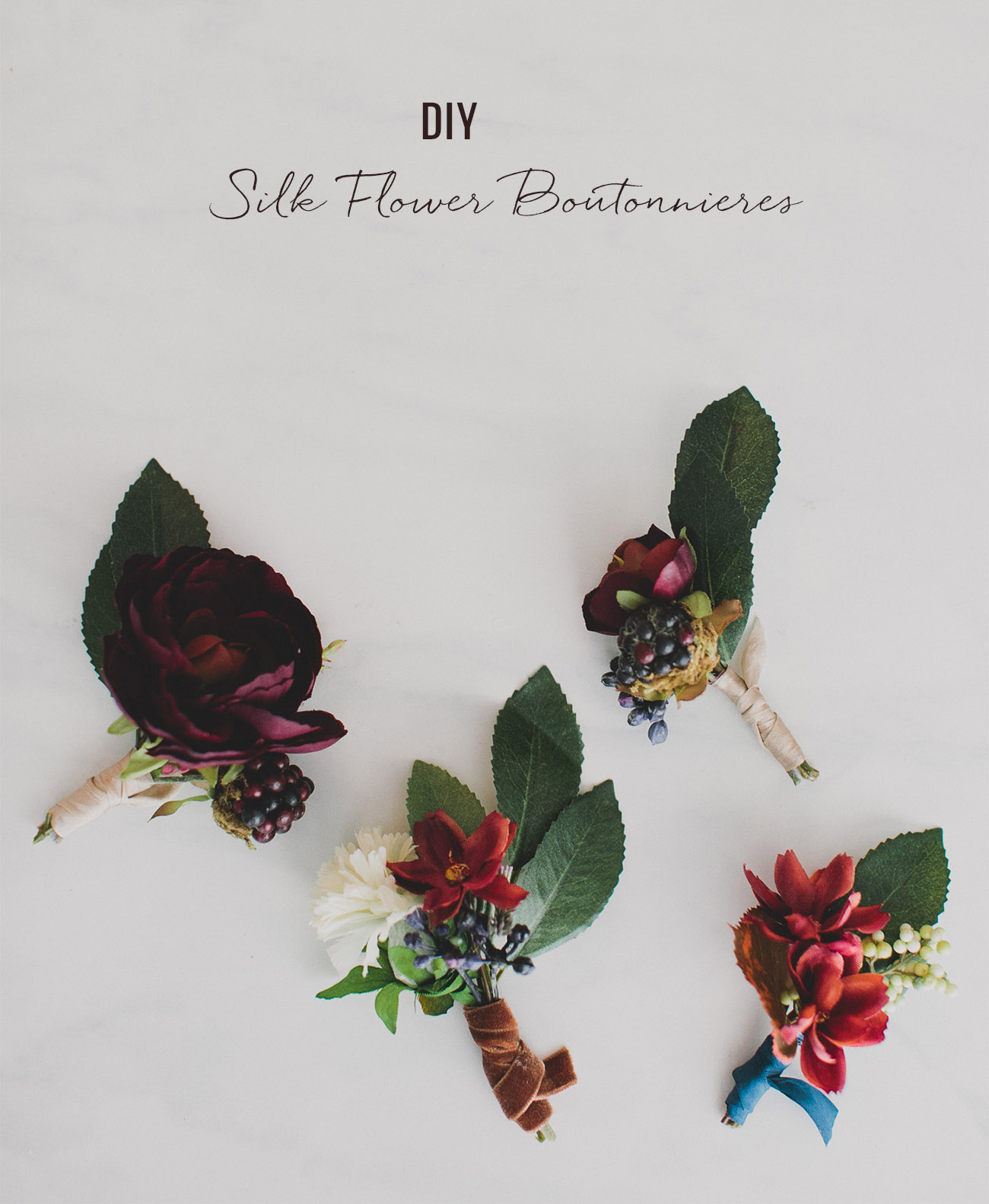 Diy silk flower boutonnieres green wedding shoes diy silk flower boutonnieres mightylinksfo Choice Image