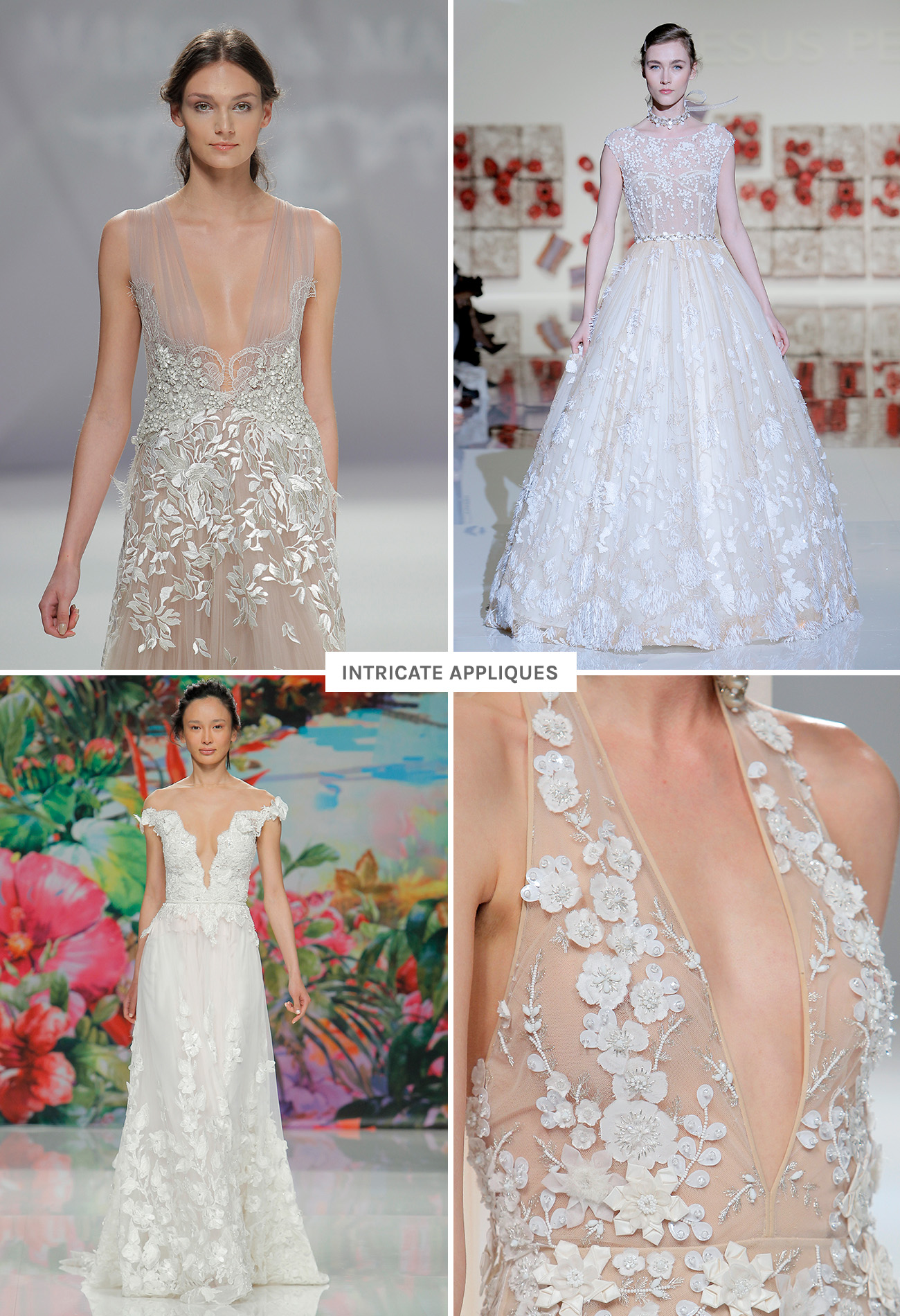 Wedding Dress Trends from Barcelona Bridal Fashion Week 2016 - Green ...