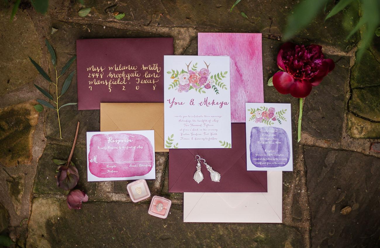 burgundy invitation