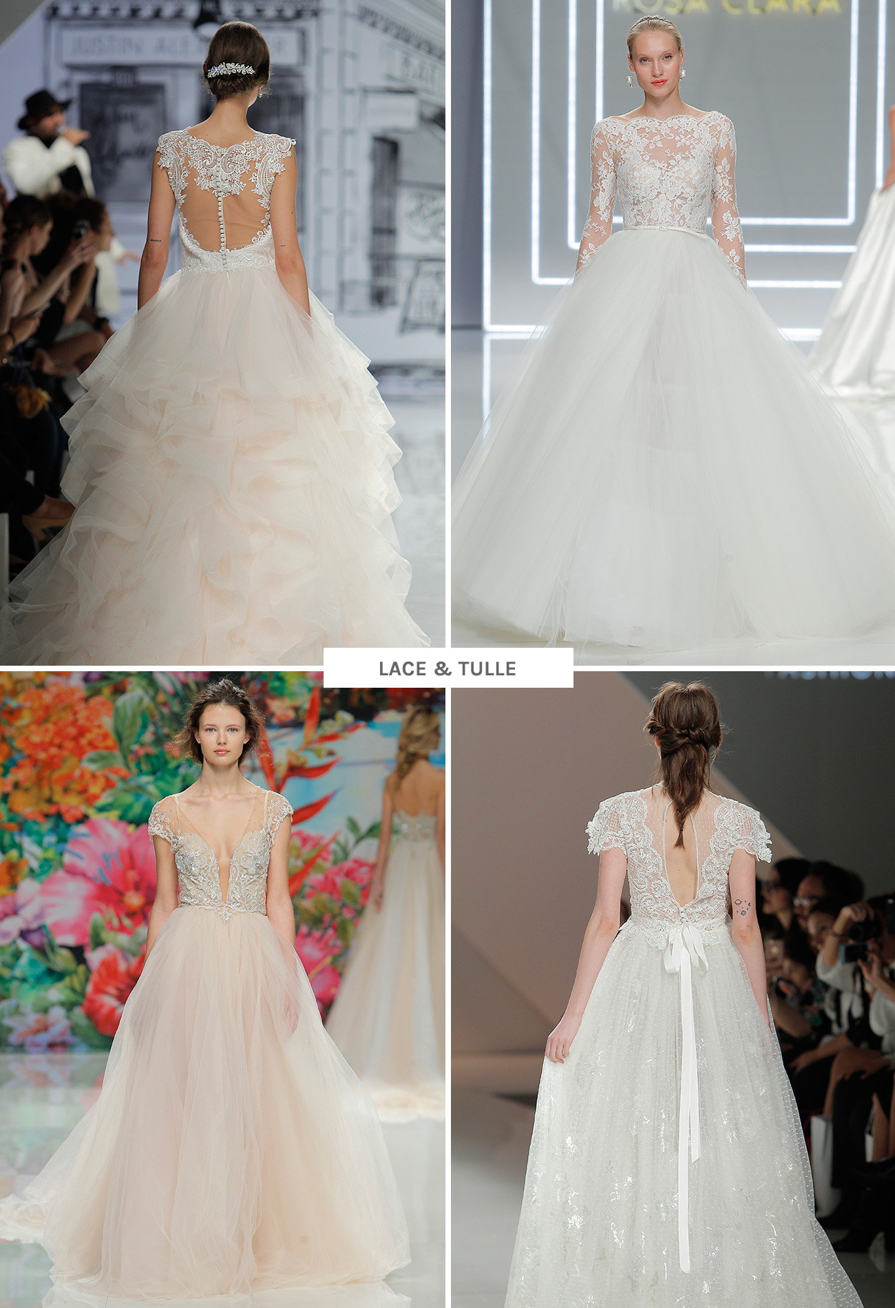 Lace and Tulle Wedding Dresses from Barcelona Bridal Week