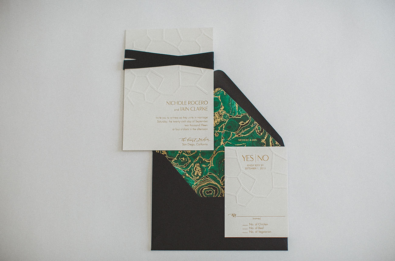 green invitation liner