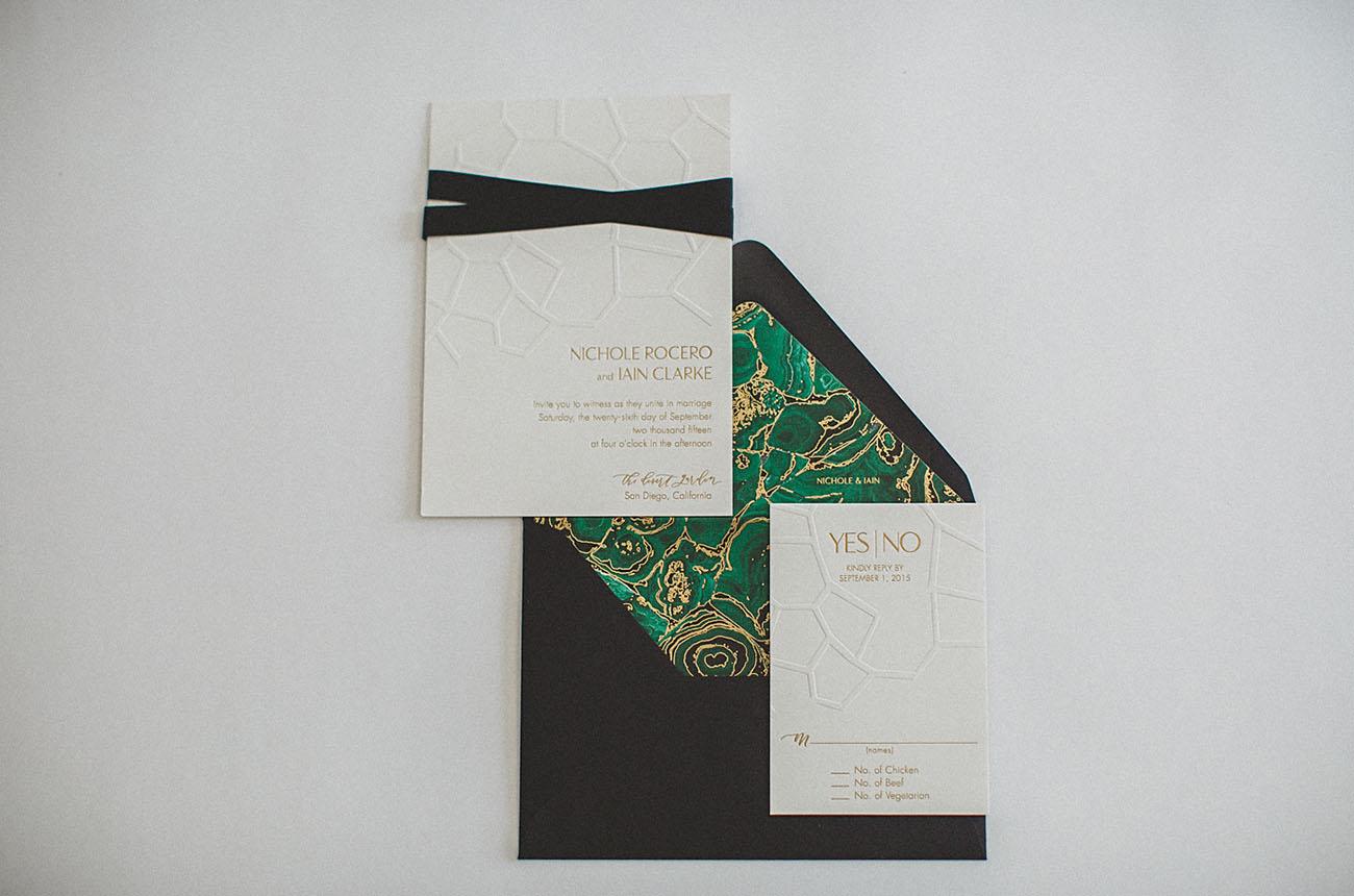 green invitation liner