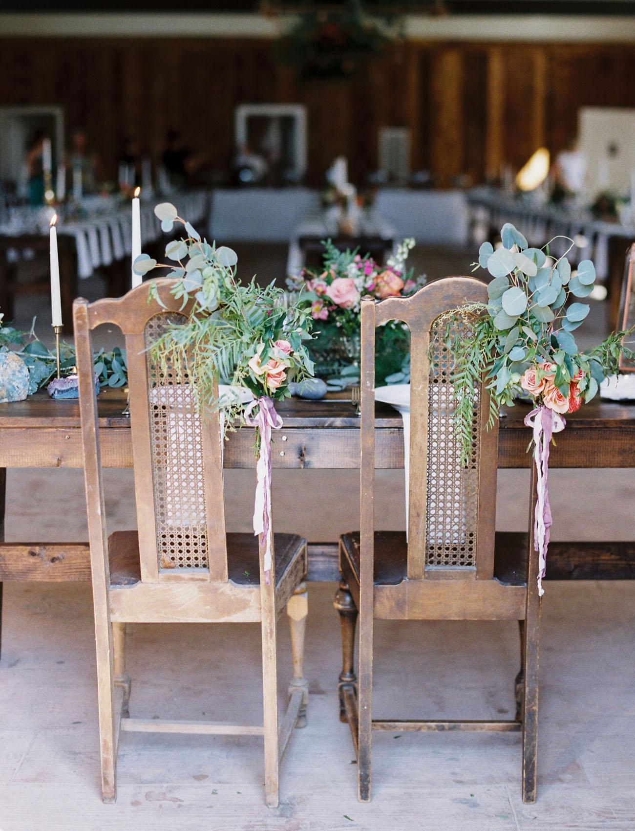 flower chair decor
