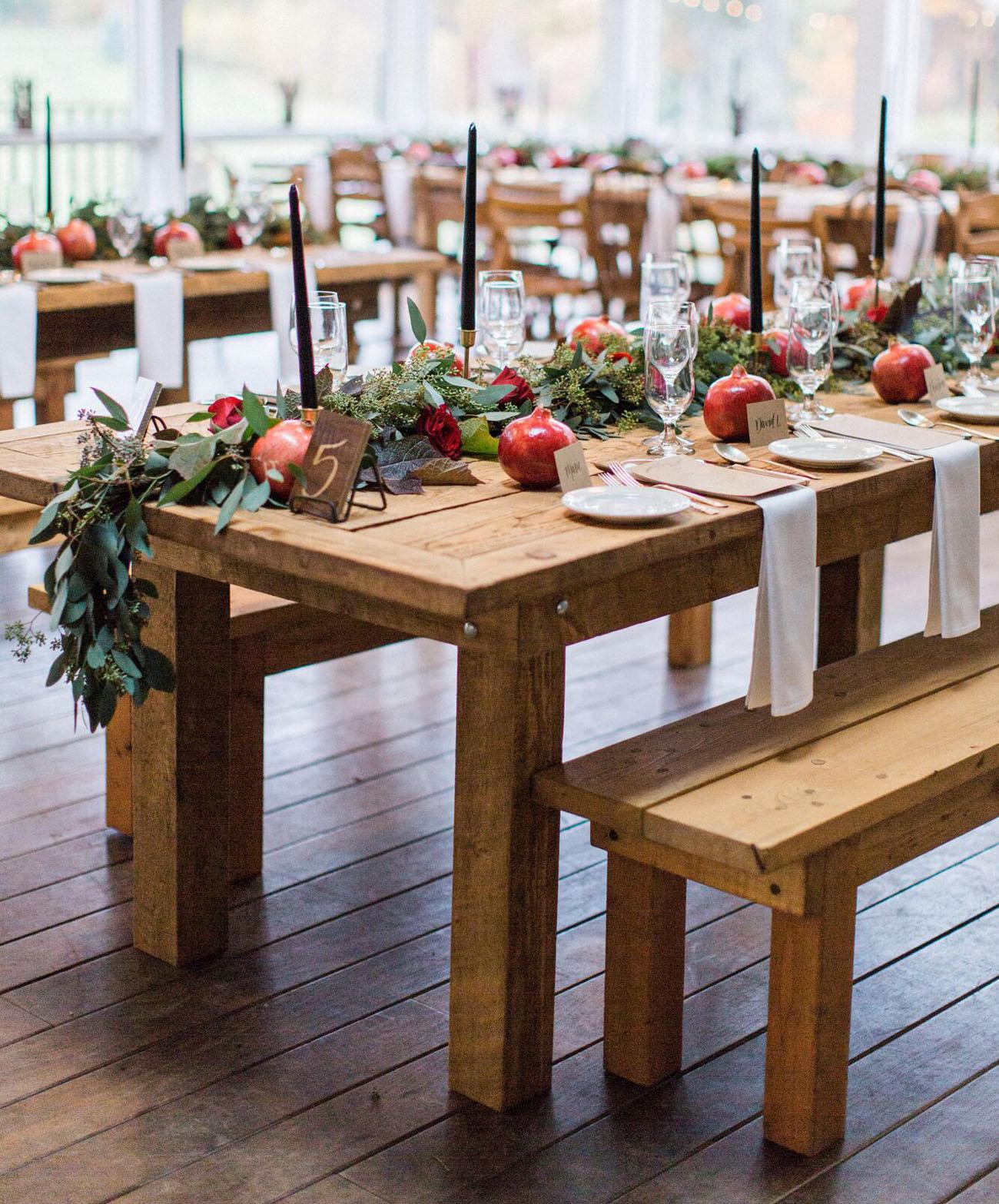 pomegranate table favors