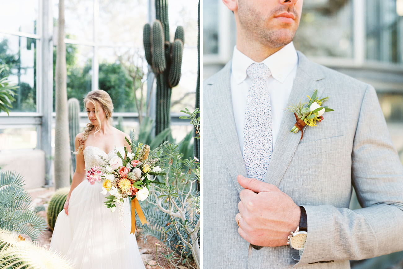 Sweet Southwestern Greenhouse Wedding Inspiration - Green Wedding Shoes