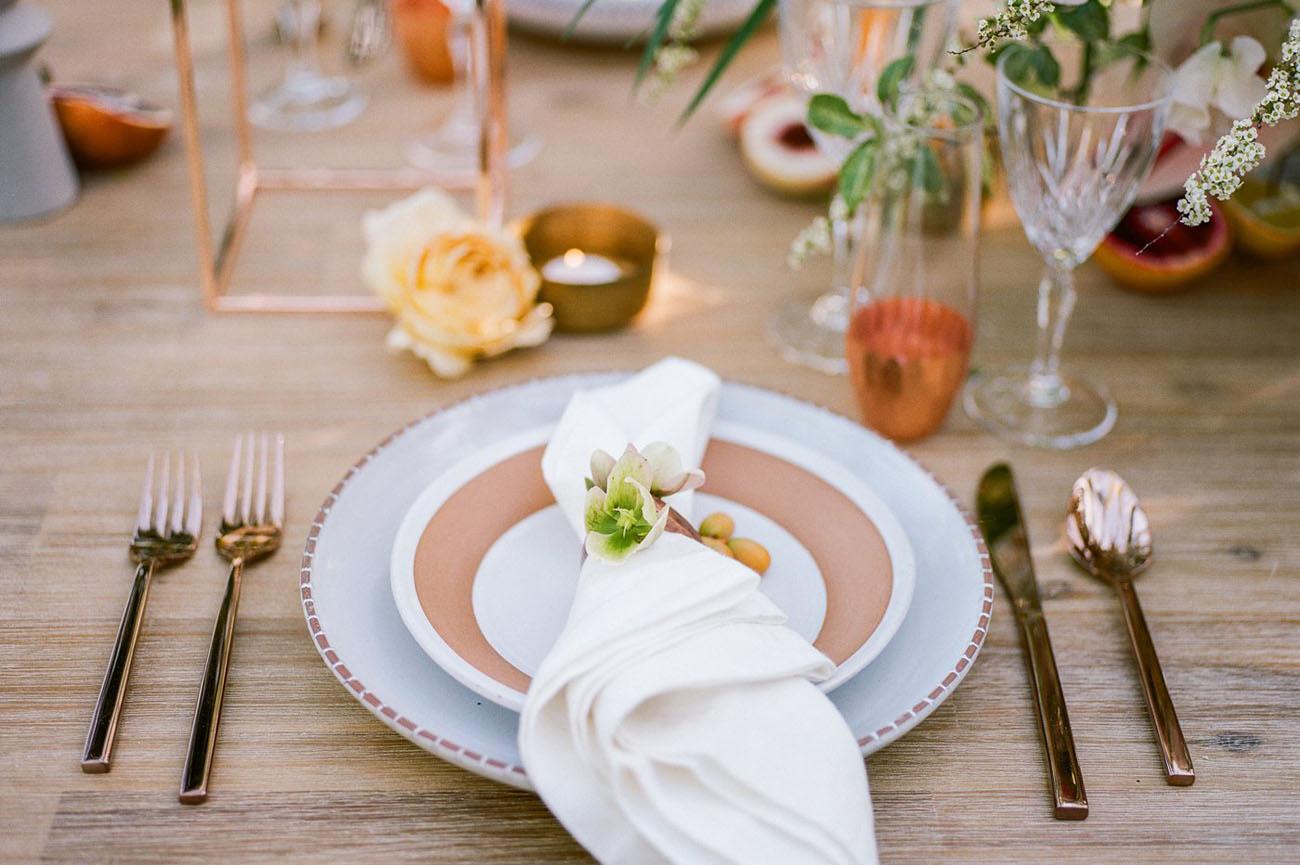 flower napkin ring