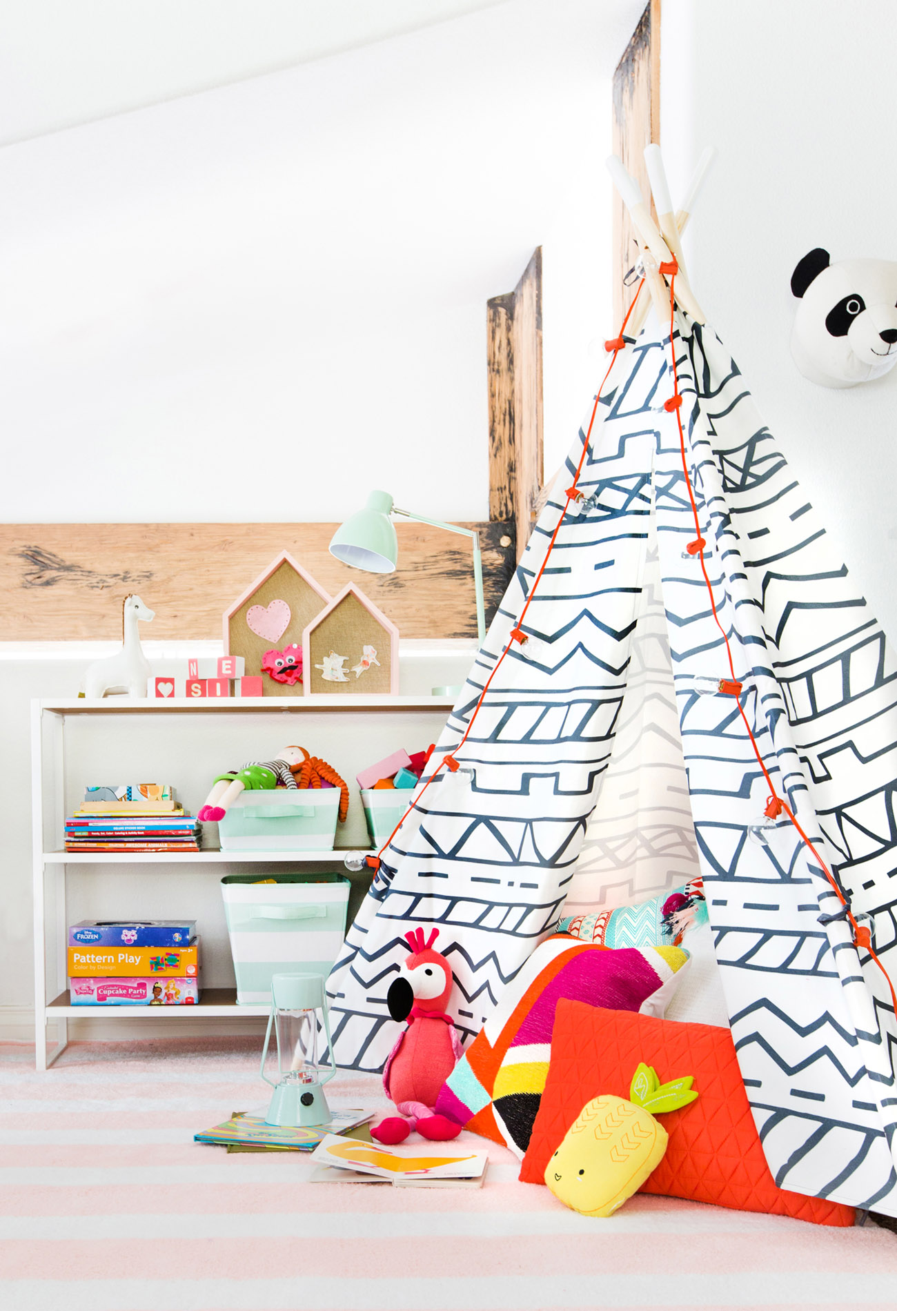 teepee in playroom