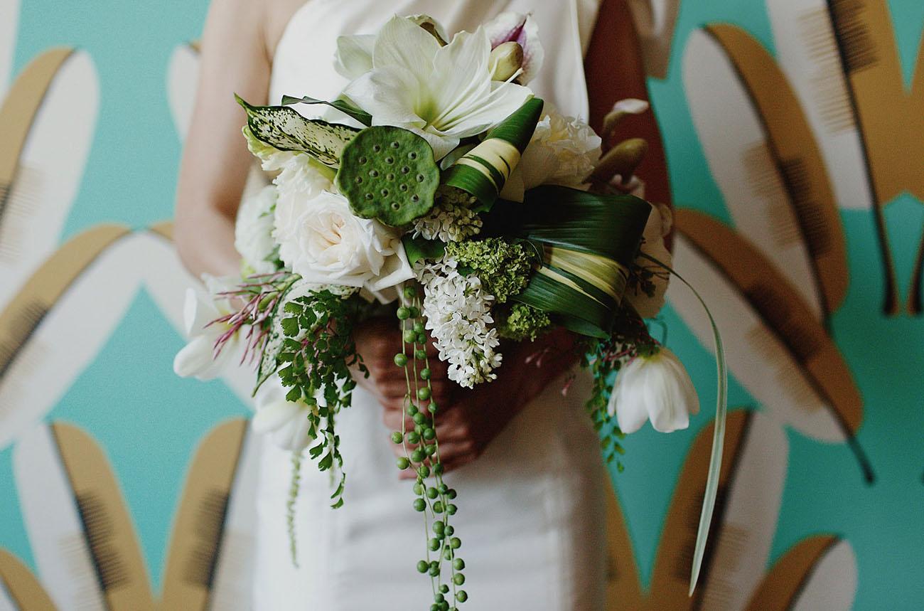 green tropical bouquet