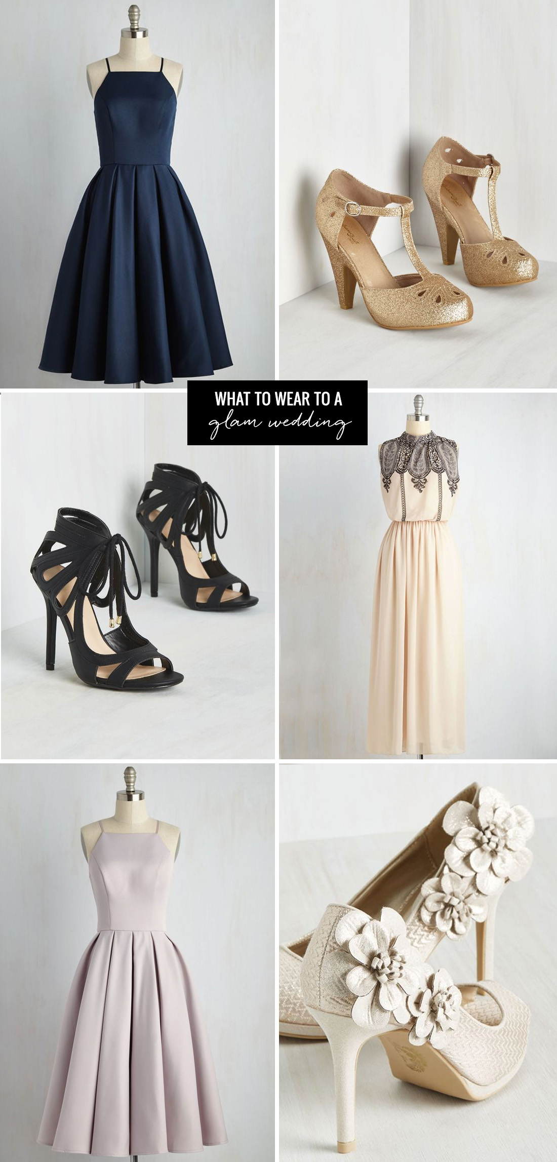 what to wear to a glam wedding