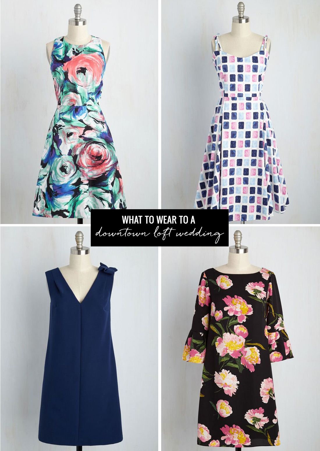what to wear to a downtown loft wedding